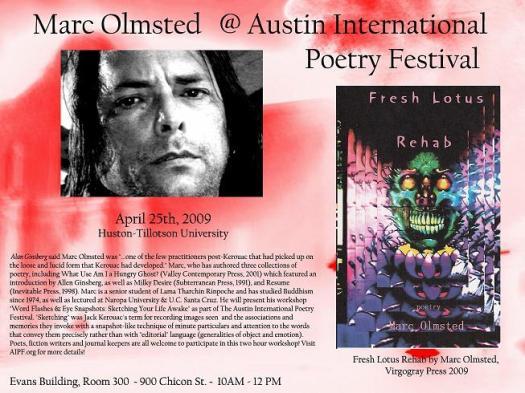 Marc Olmsted @ Huston-Tillotson University Saturday April 25th, 2009 10:00 AM